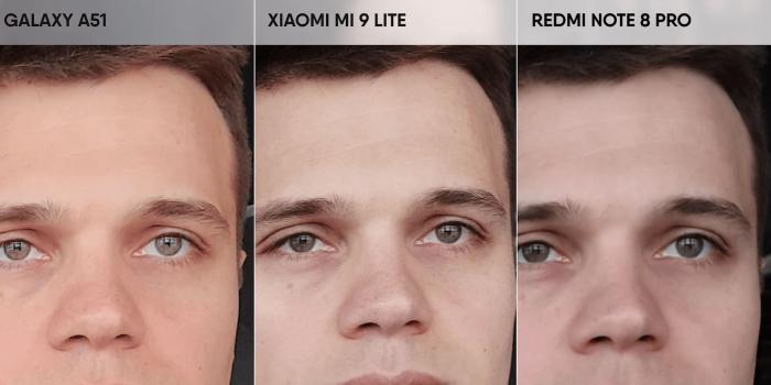 Сравнение снимков, сделанных на разные смартфоны