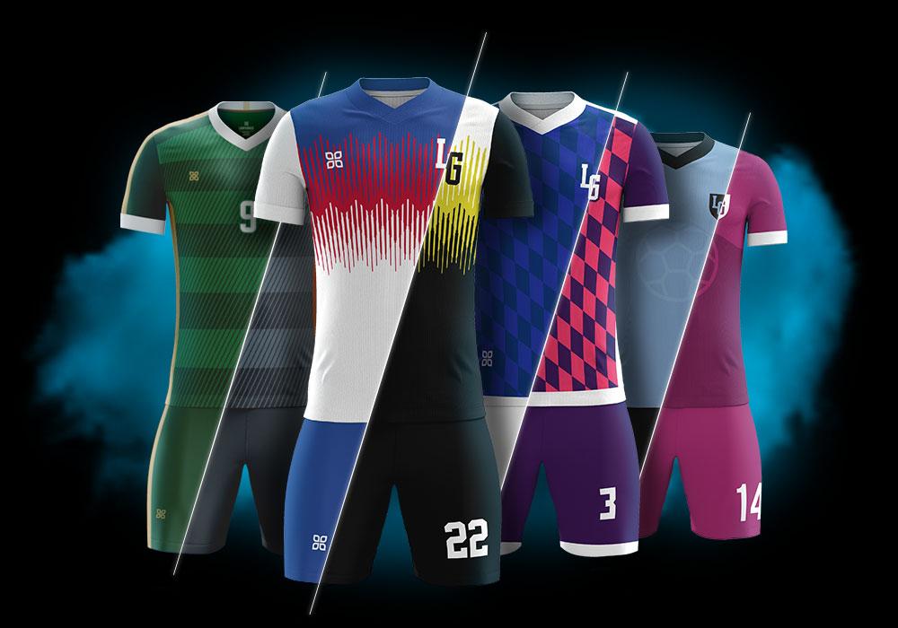 Разноцветная футбольная форма