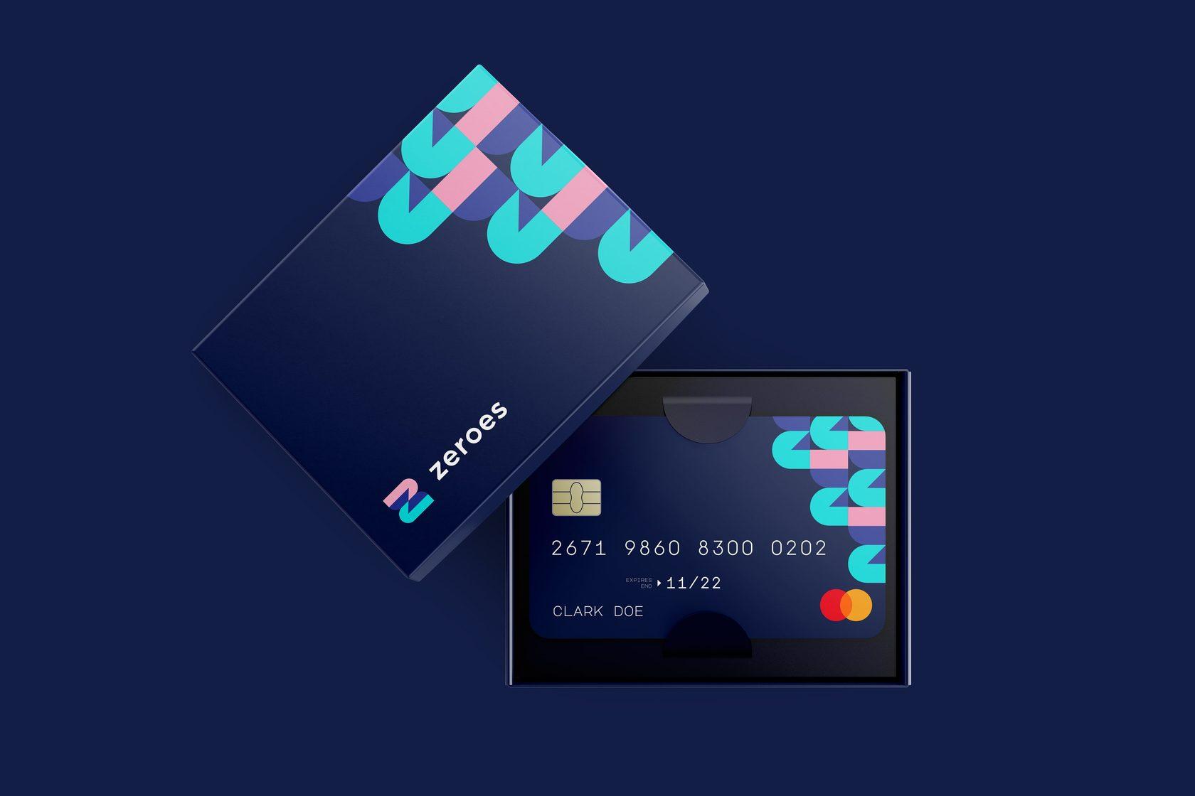 Dark credit card design