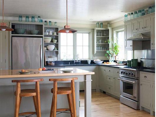 Умиротворяющий интерьер кухни