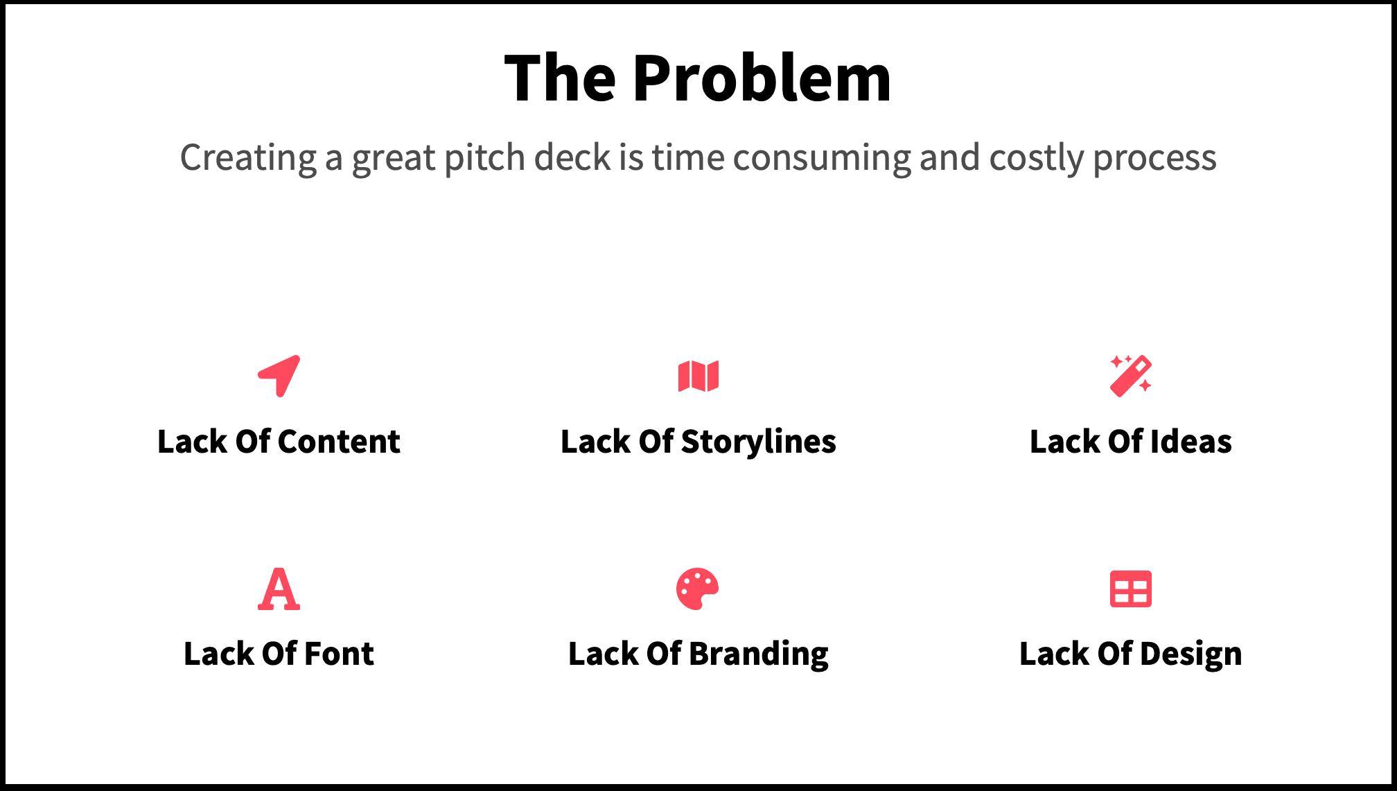 the problem slide pitch deck template presentation deck
