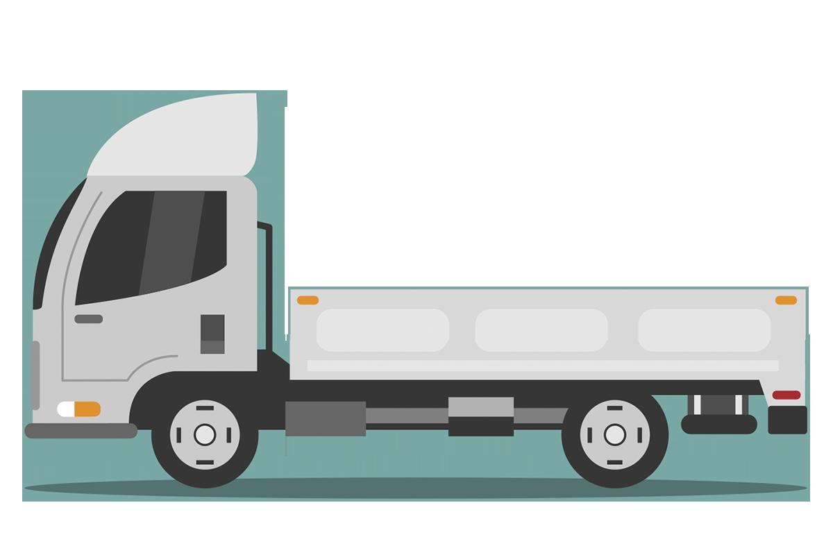 Фургон с открытой площадкой, оборудован тентом