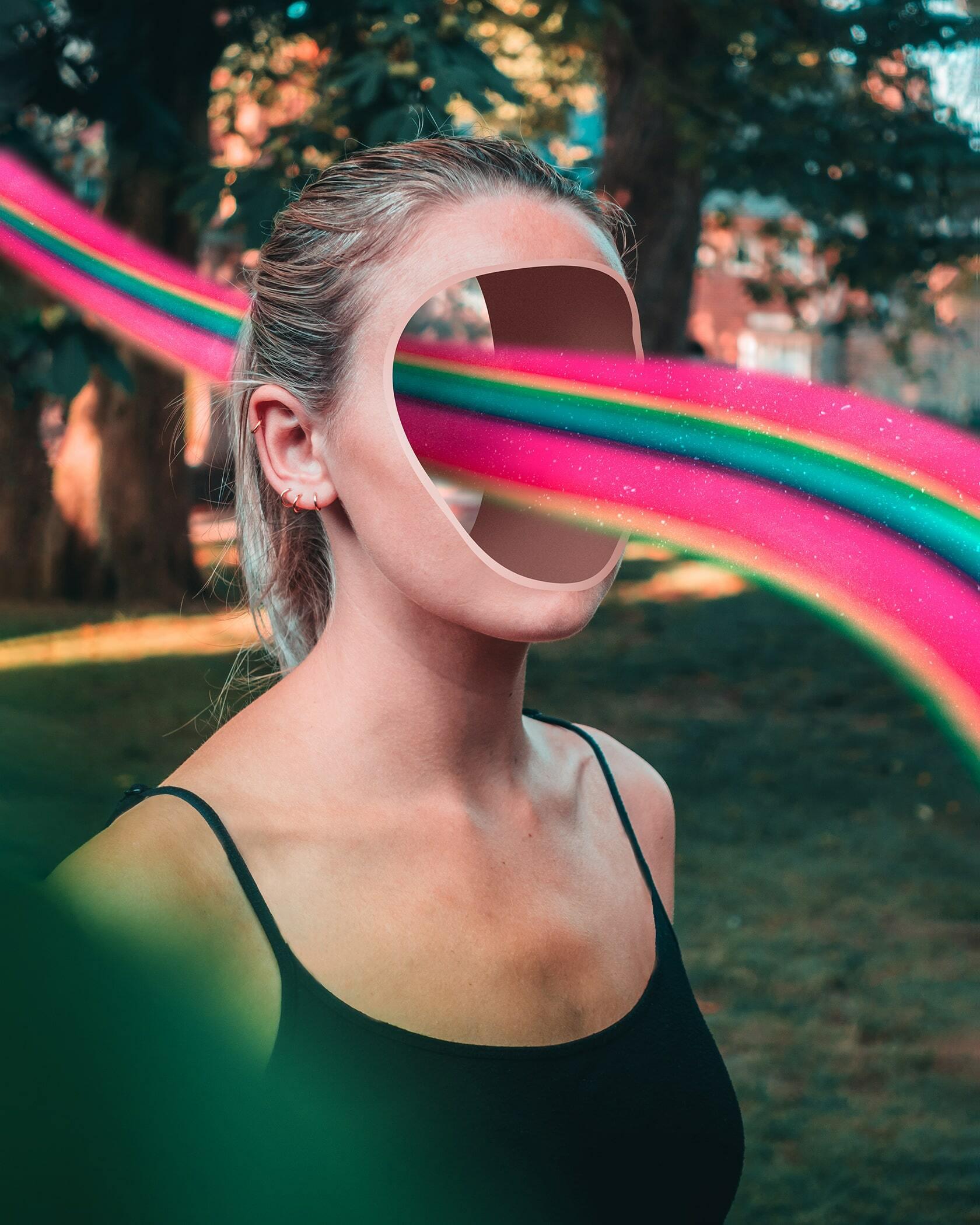 Digital art project abstract portraits ontwerp Hollow