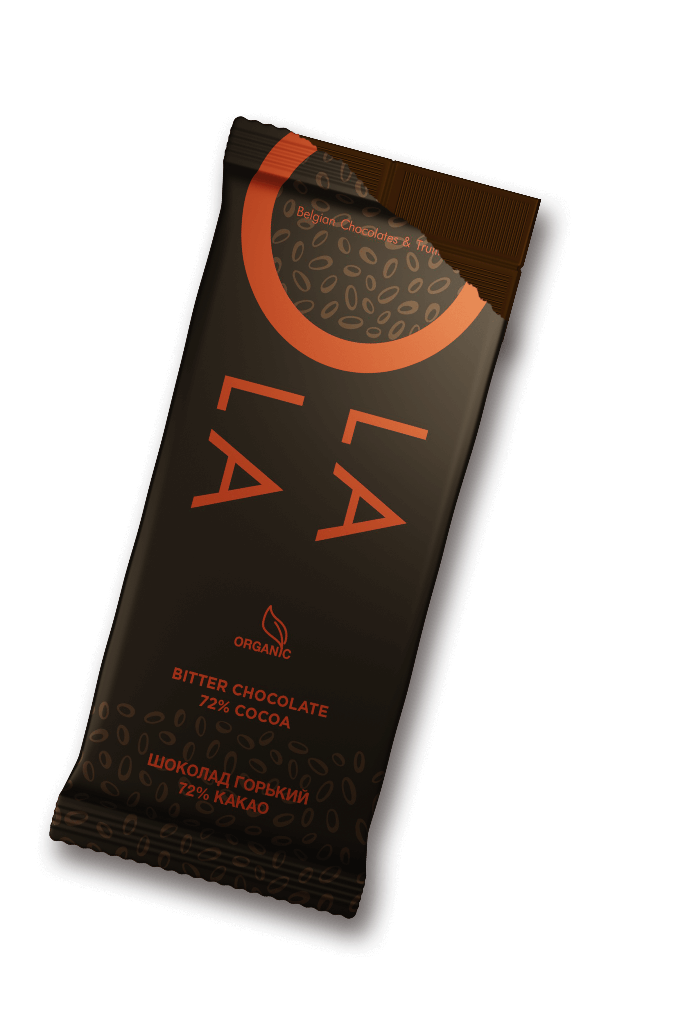 Bitter chocolate Belgostar O LA LA - cocoa