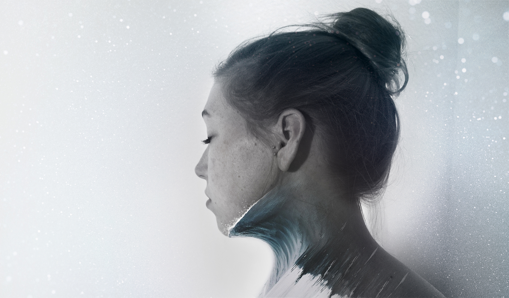 Digital art project abstract portraits ontwerp Waves