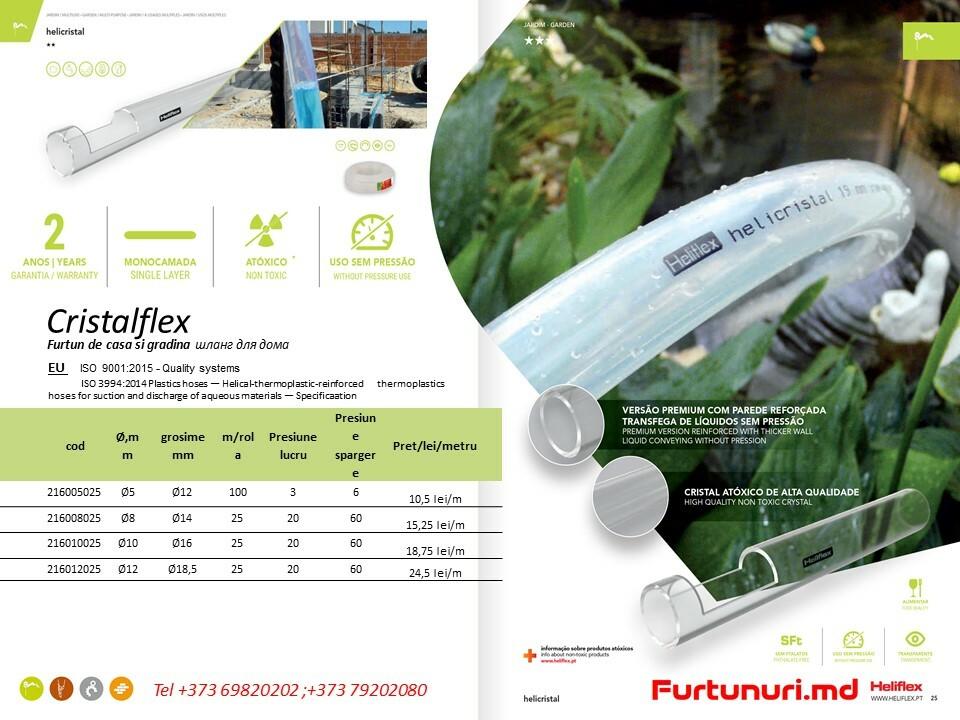 Furtun transparent PVC Cristalflex