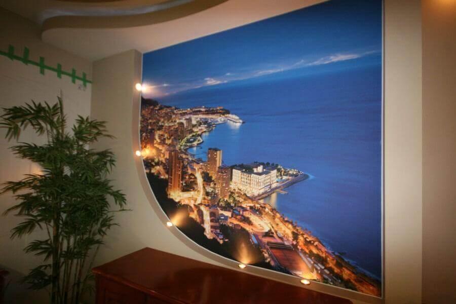 подсветка стен с фотопечатью если