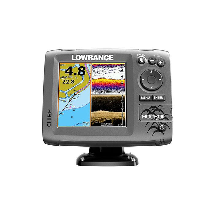 Морской навигатор Lowrance HOOK-5 Mid High DownScan