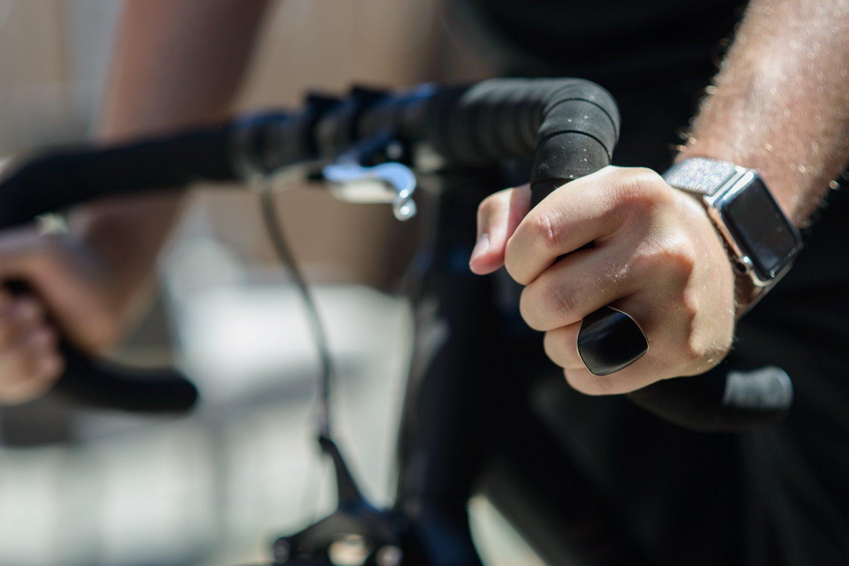 Кольцо Nimb на велосипедисте