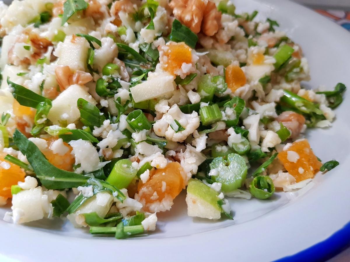 Табуле из цветной капусты. Фото рецепт. Израильская кухня.