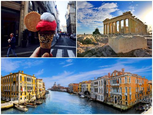 Афины, Венеция, Милан в ноябре