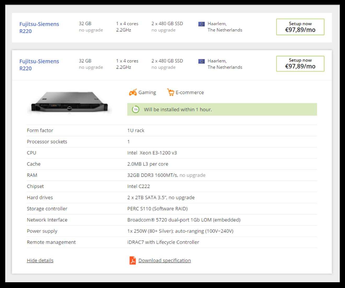 Подробная техническая информация о подобранных конфигурациях | sobakapav.ru