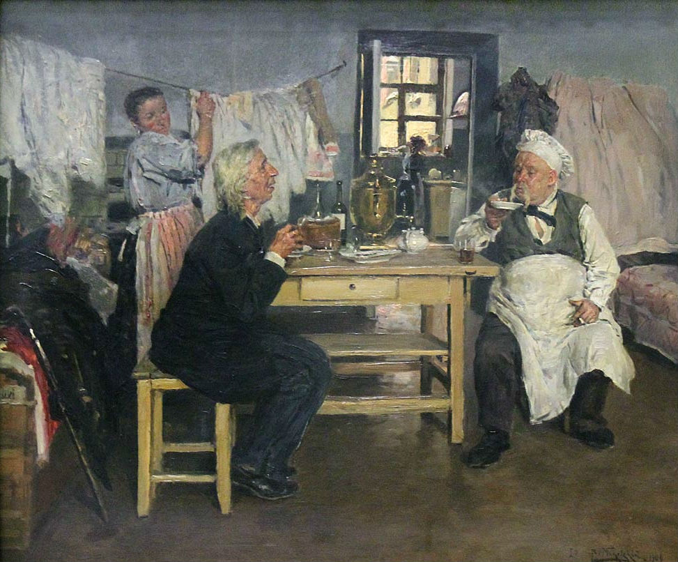 «Беседа. Идеалист-практик и материалист-теоретик», Владимир Маковский