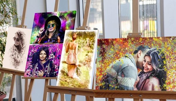 Картины на выставке художника