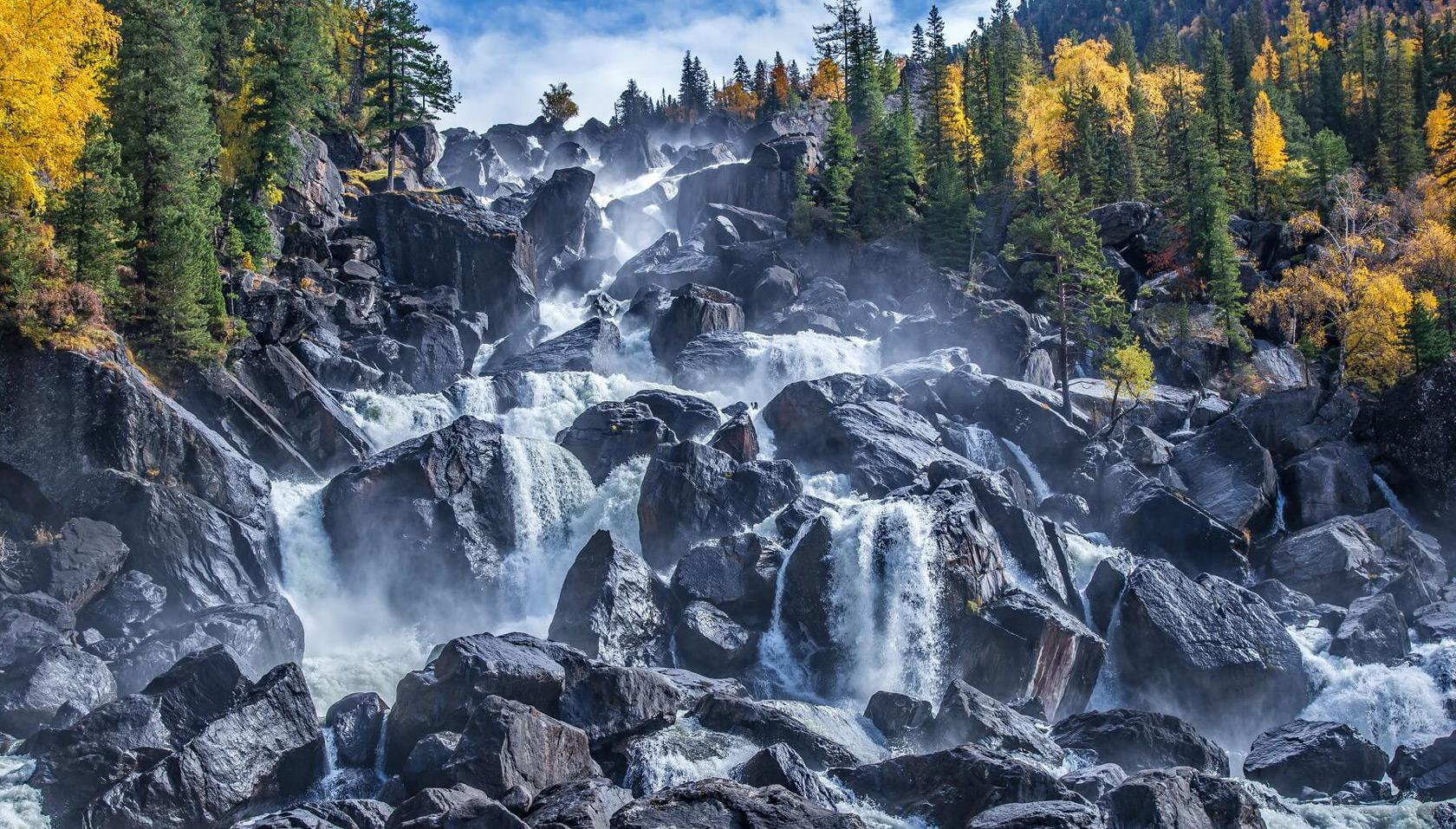 Большой Чульчинский водопад Учар