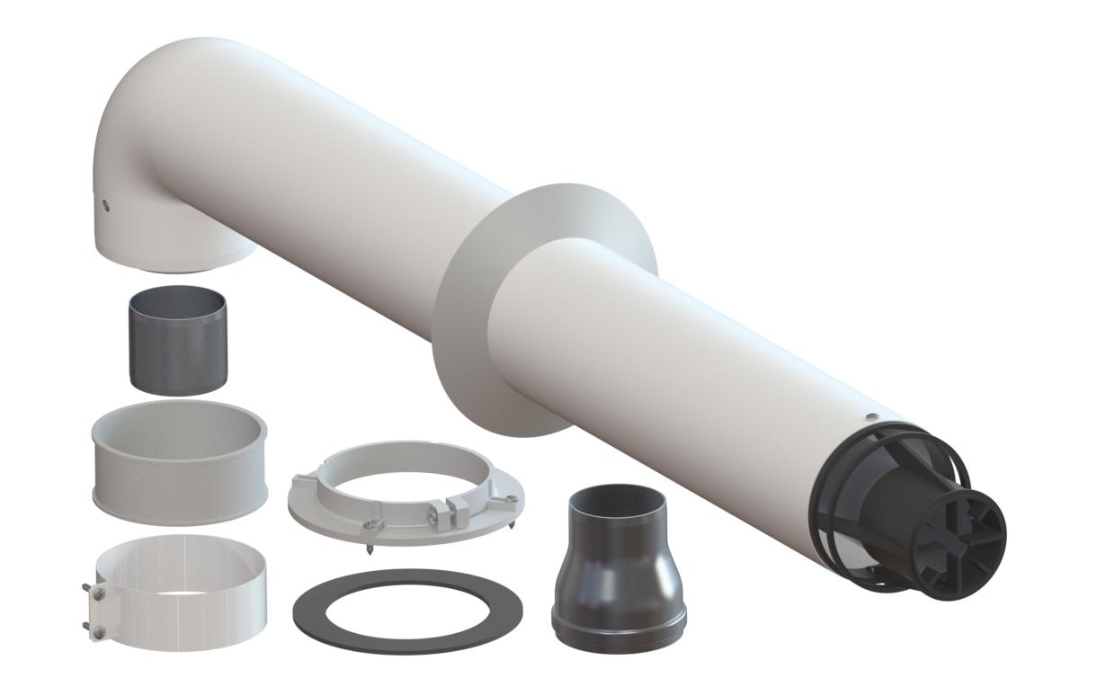 Универсальный дымоход для газовых котлов двухконтурный газовый котел открытая дымоход