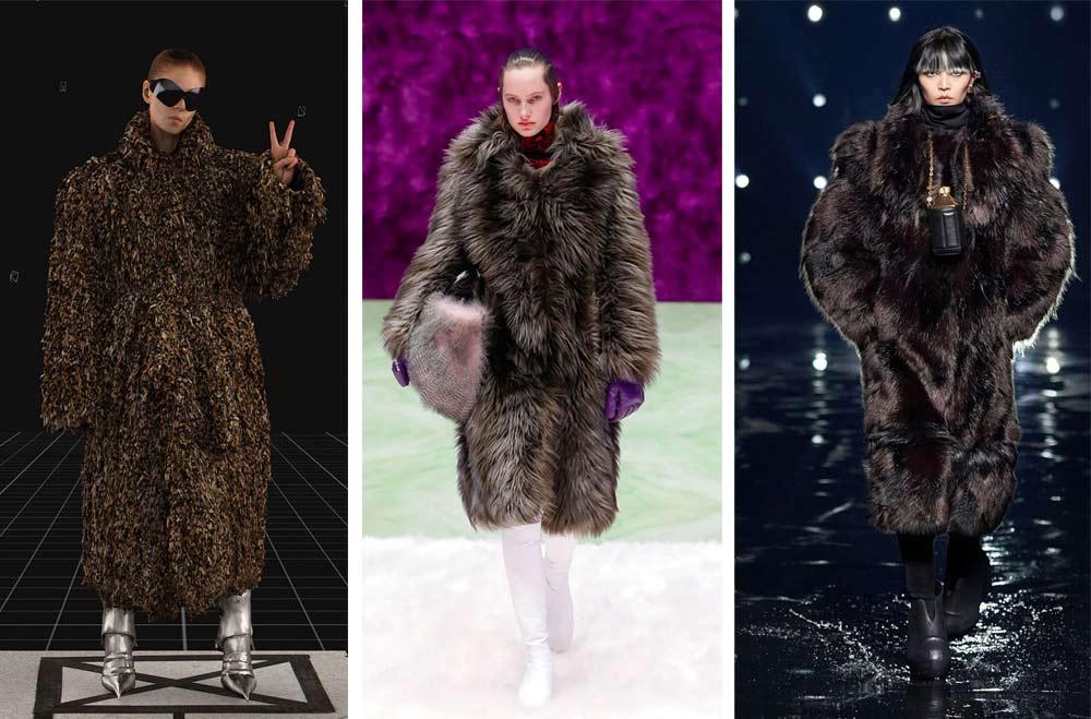 Faux fur е вид имитация на кожа с косъм, която ще бъде модерна за изработване на различни връхни дрехи за сезон fall/winter 2021/22.