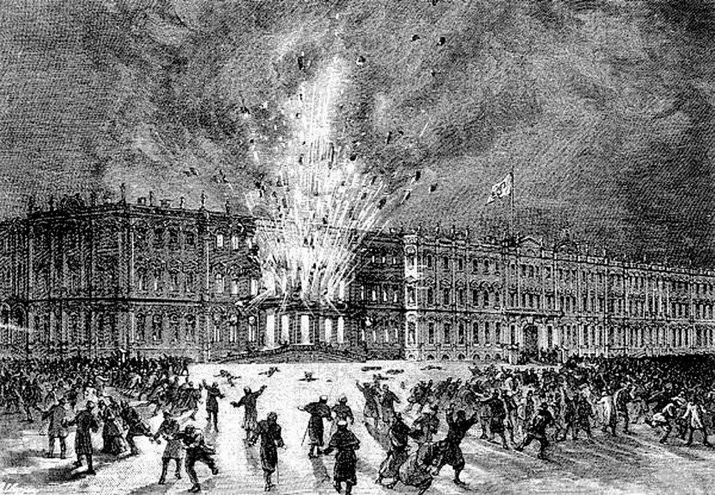 1880 год. Халтурин смог пронести в подвал Зимнего дворца 30 килограмм динамита