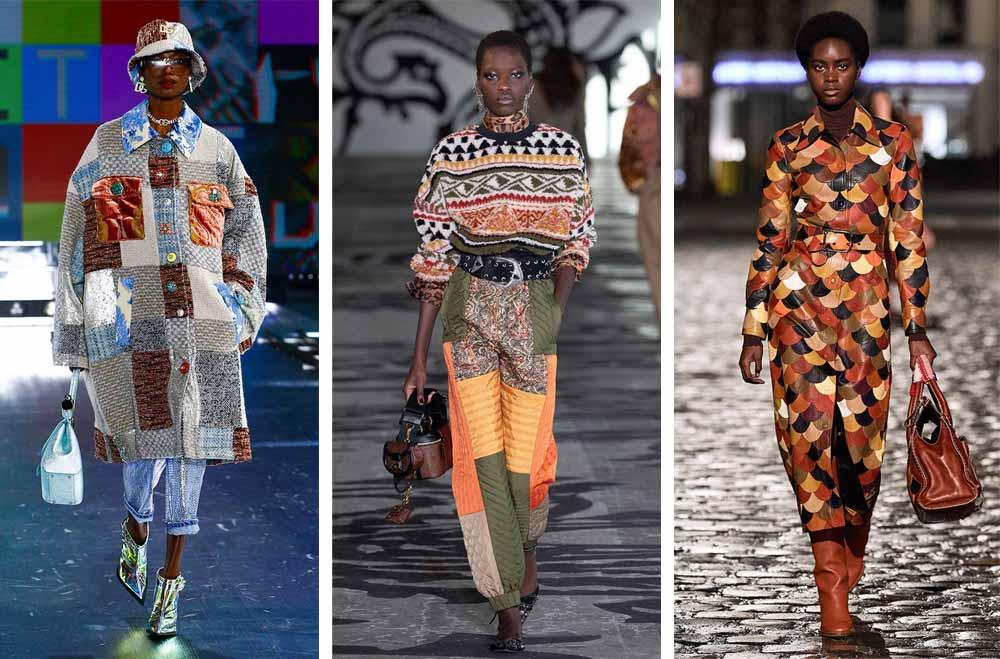 Пачуърк или дрехи от кръпки от различни материи ще са актуални и през 2022 според Vogue.fr