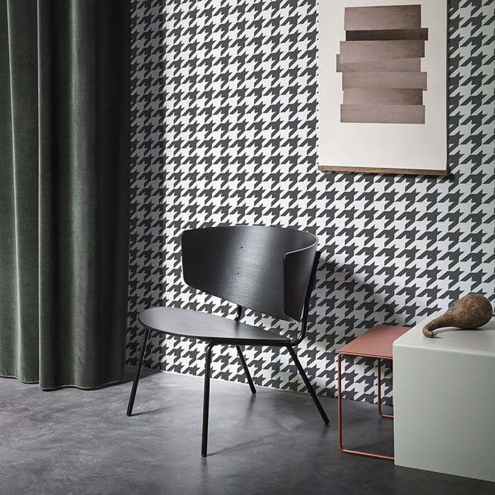 Бесшовное текстильное полотно «Pied-de-poule». Классическая черно-белая «гусиная лапка».