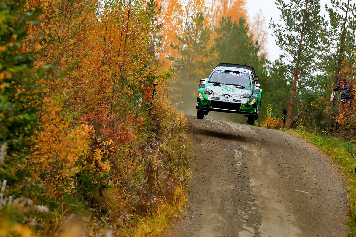 Эсапекка Лаппи и Янне Ферм, Toyota Yaris WRC, ралли Финляндия 2021