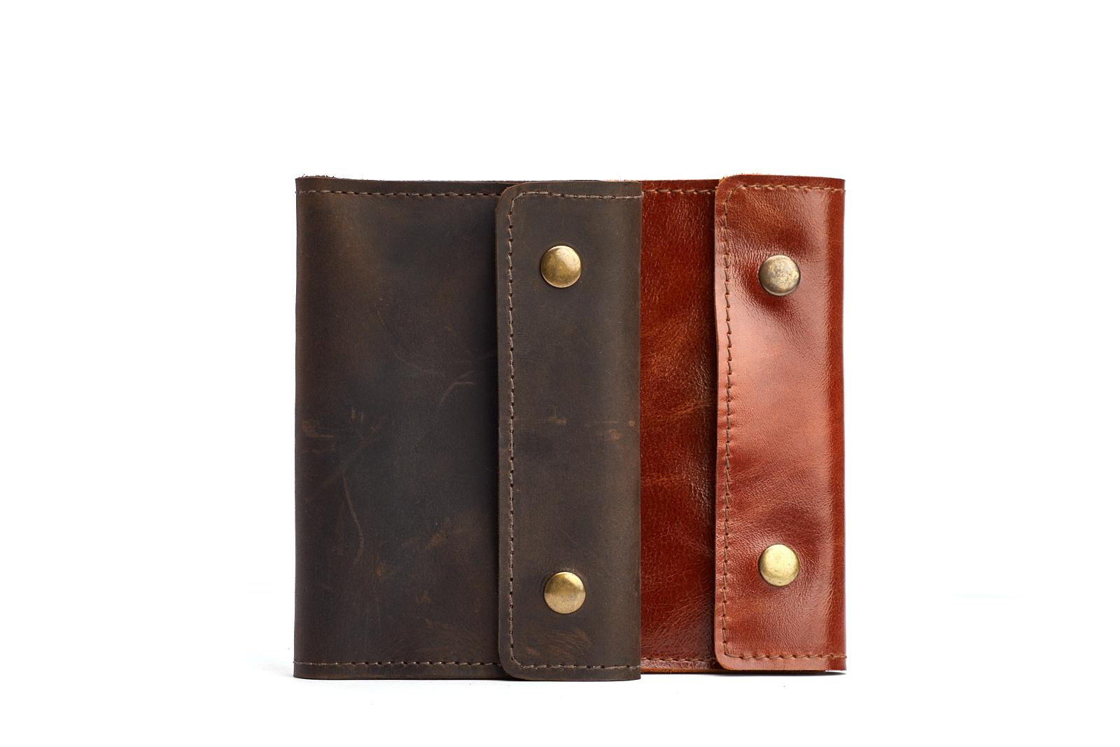 Шкіряна обкладинка для паспорту BUTTON | Shuflia