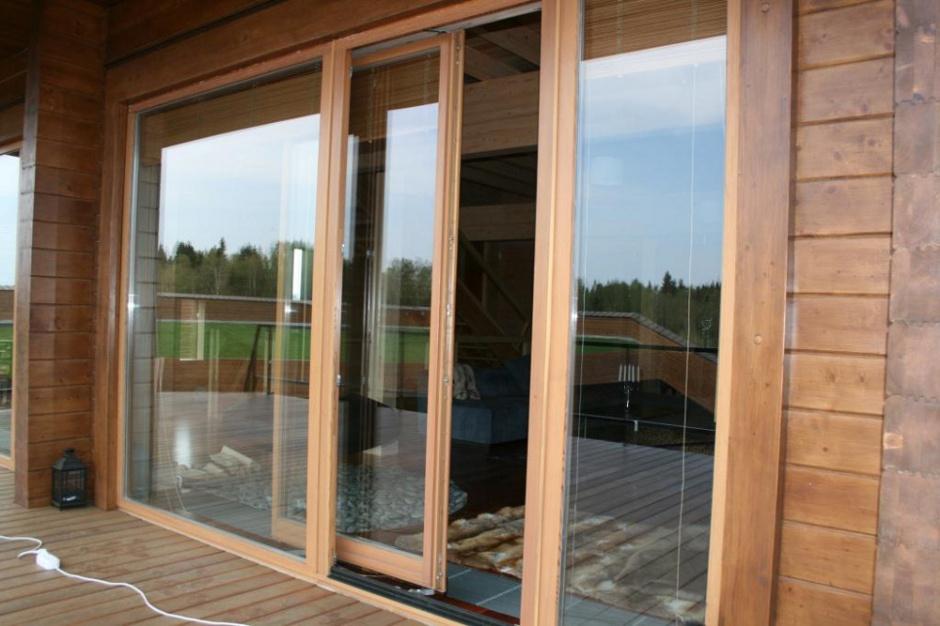 Раздвижные стеклянные двери фото выполненных работ.