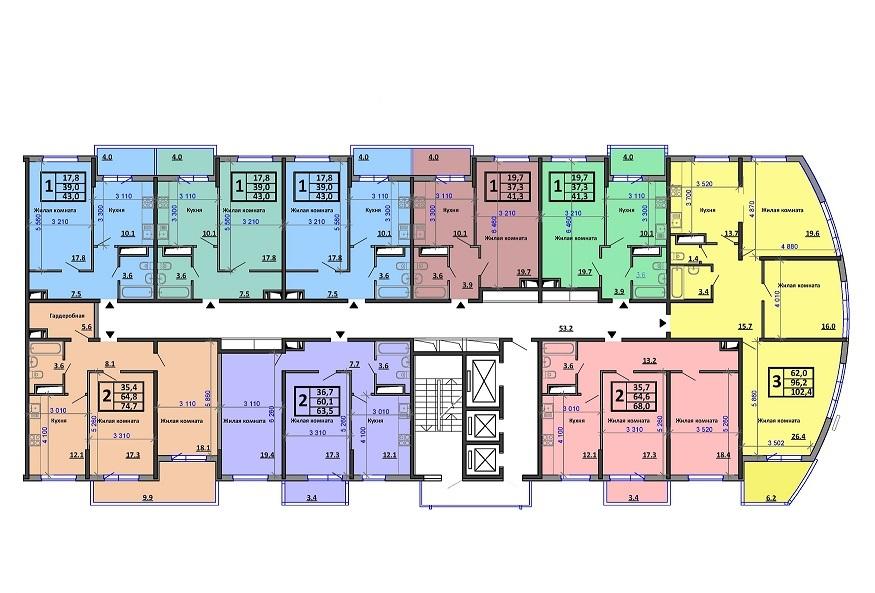ЖК Аквамарин планировки квартир от застройщика в краснодаре