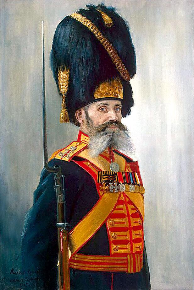 Владимир Поярков «Портрет Дворцового гренадера М. Кулакова» (1915)