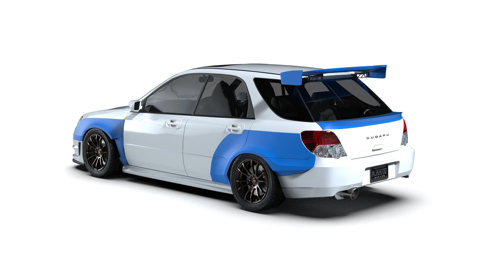 Mid Spoiler Subaru Impreza Wagon 00 07