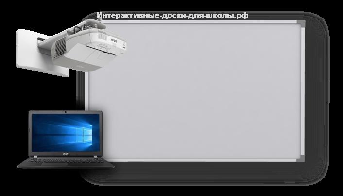 Интерактивная школьная доска с проектором