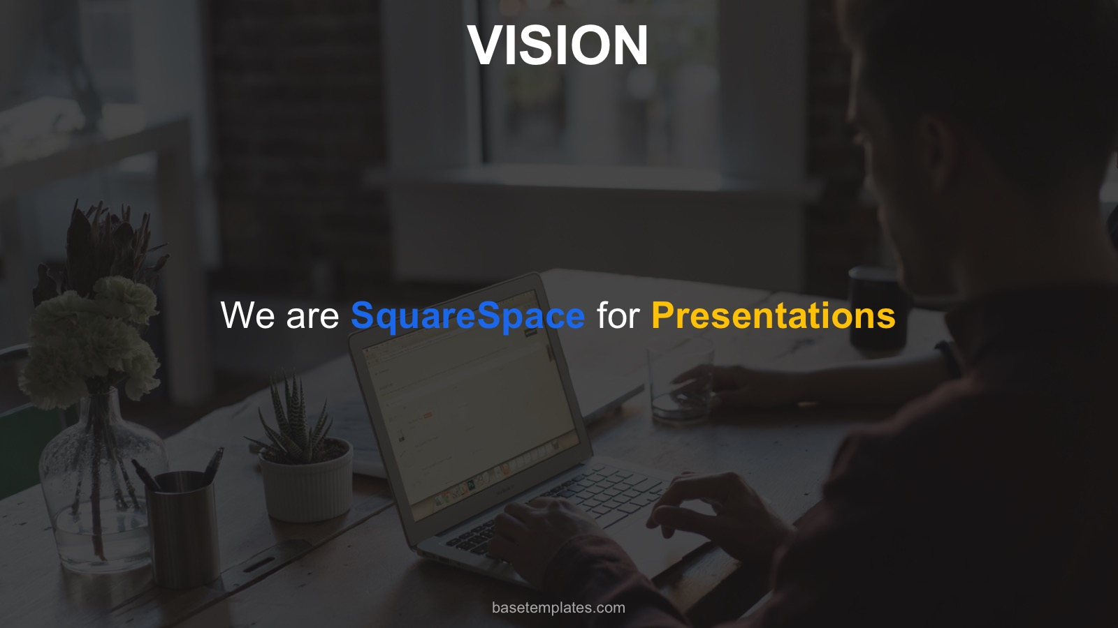 vision slide pitch deck template