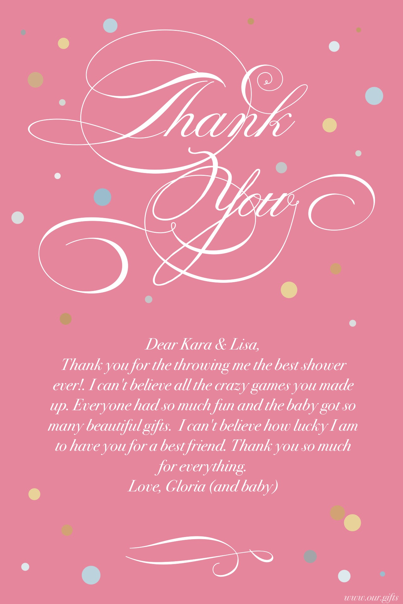 Thank You Message For Baby Shower, Baby Shower Thank You Notes ...