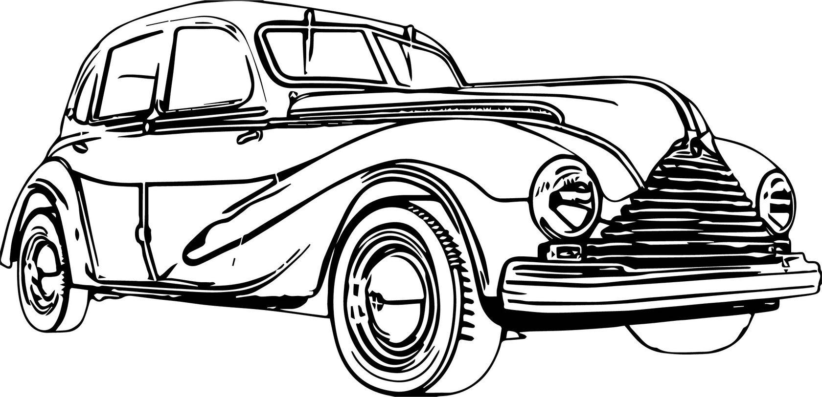 Ретро автомобили картинки для распечатки