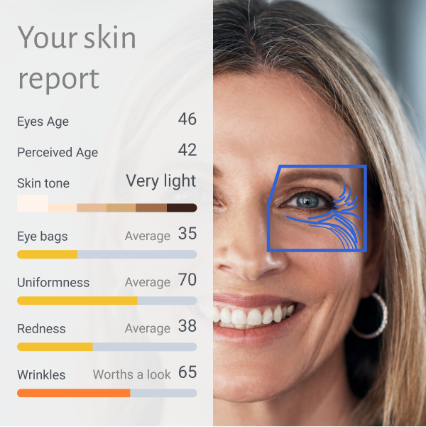 sample AI analysis for skincare - skin report