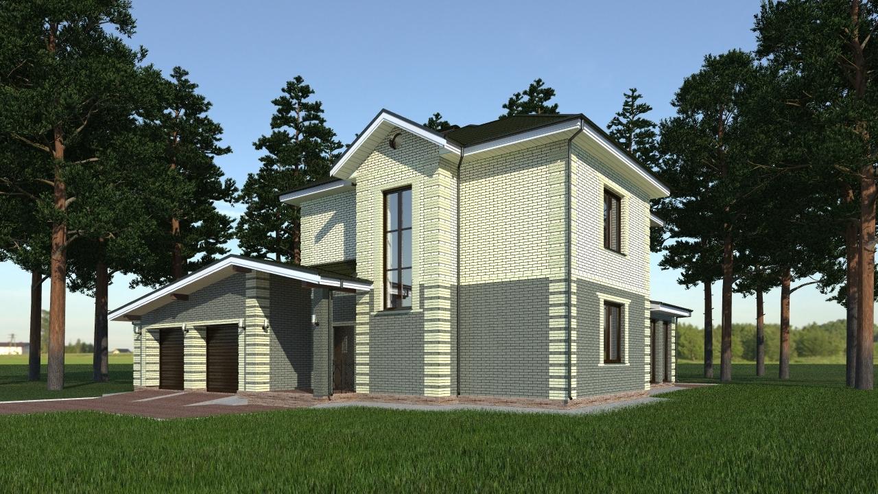 бесплатные проекты двухэтажных домов из газобетона