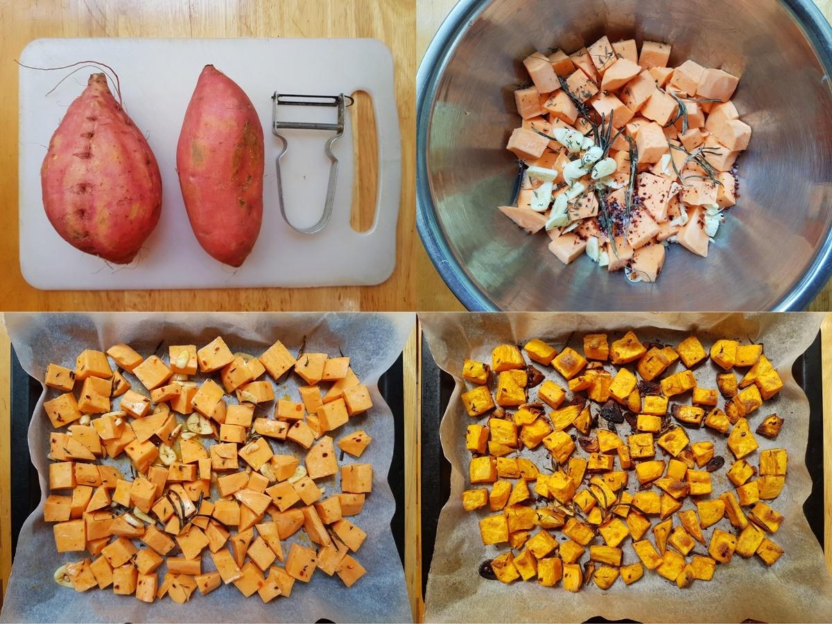 Батат (сладкий картофель) в духовке. Фото рецепт.