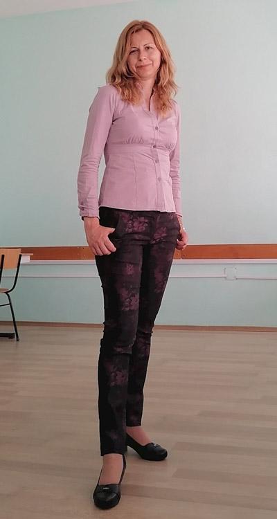 Модерни дамски панталони тип дънки от Ефреа.