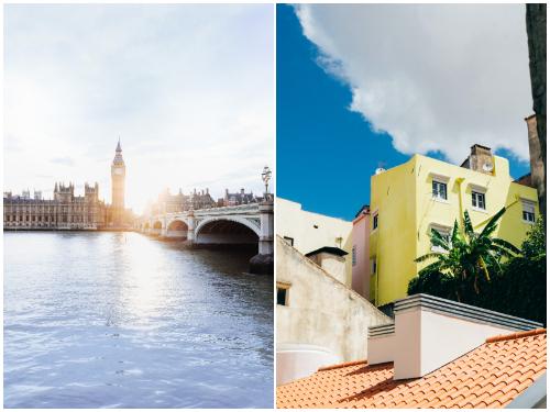 Лондон и Лиссабон в апреле