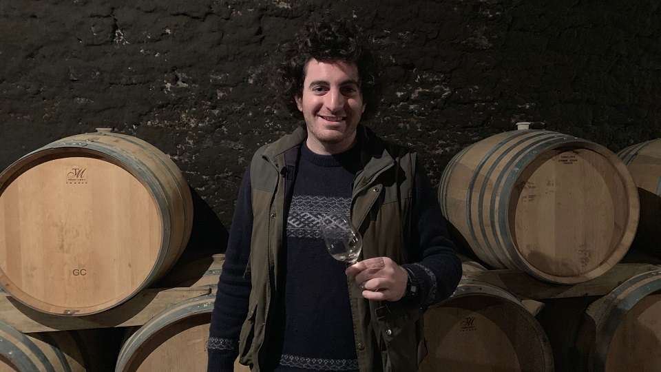 Guillaume Selosse in his cellar after tasting through the 2018s.