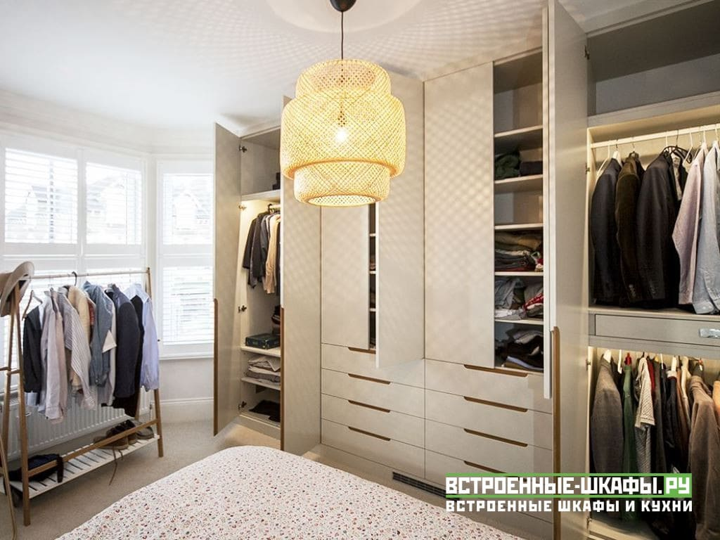 Встроенный распашной шкаф по индивидуальным размерам