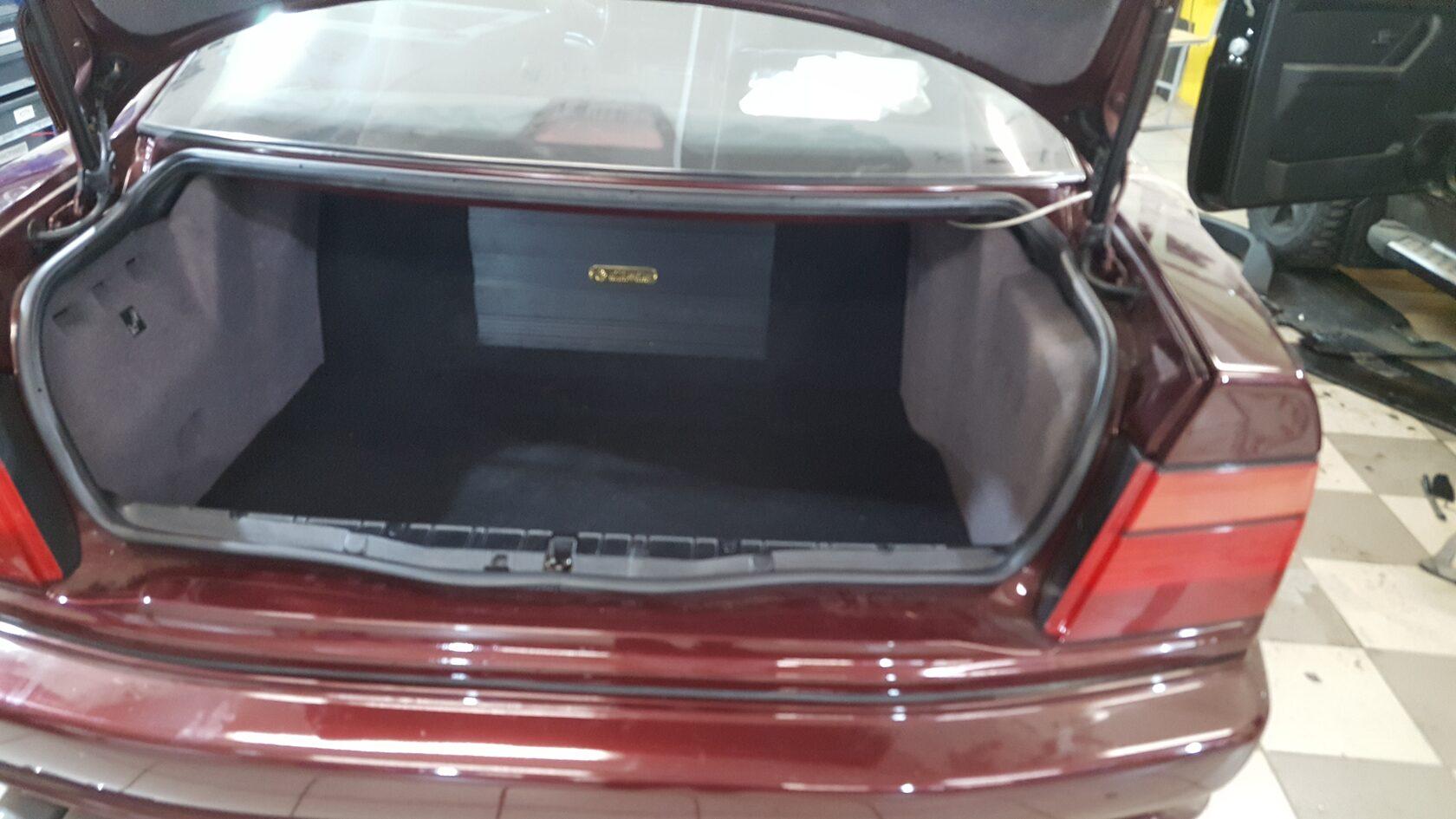 багажник с усилителем в фальшполе