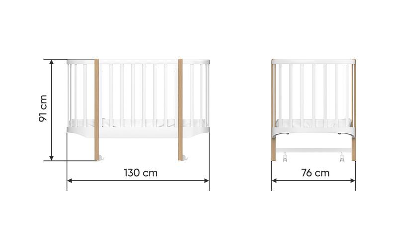 детская кроватка размеры