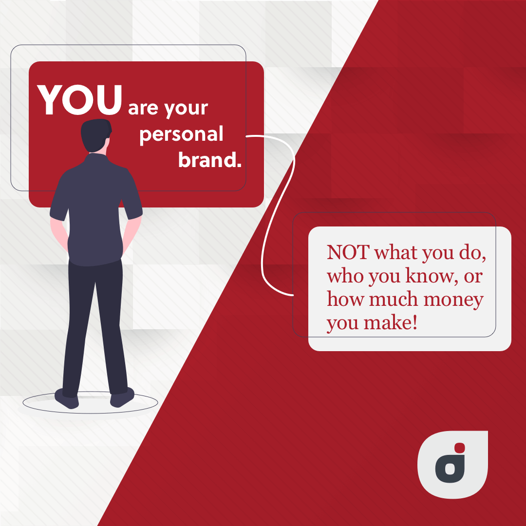 personal brand quote stating your identity is not based on your productivity, but who you are as a person