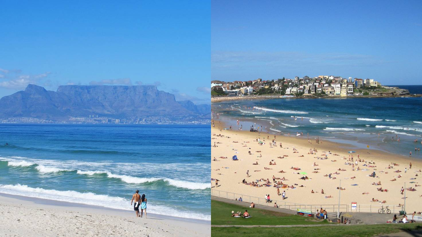 Пляжи Кейптауна и Сиднея