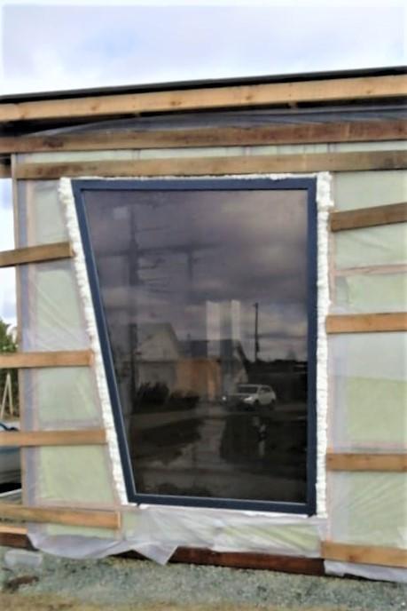 Нестандартная конструкция Окрашенный профиль тонированный стеклопакет