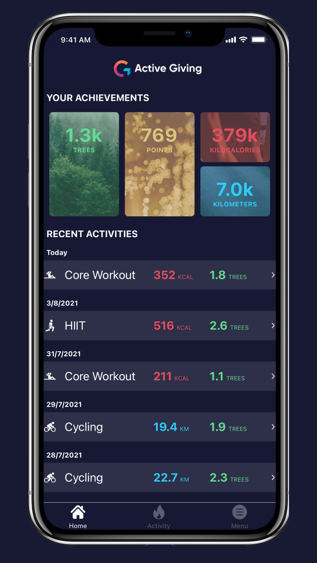 App Active Giving