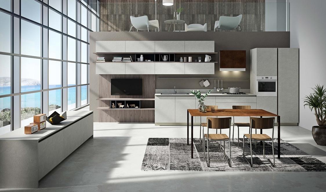 Совмещение кухни и гостинной в итальянском стиле от domani.by
