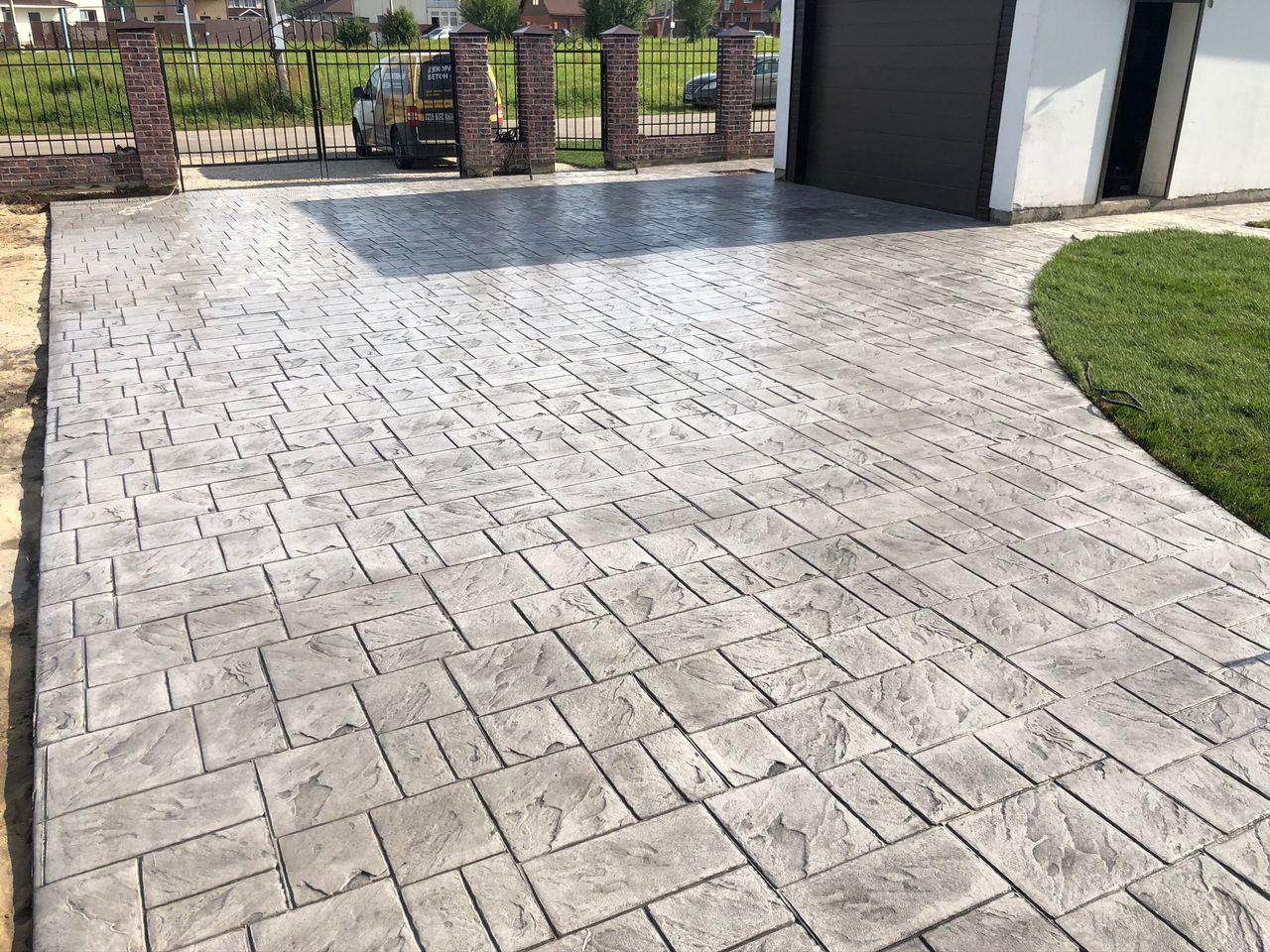 Печатный бетон цена за 1м2 под ключ в москве калькулятор марки цементного раствора