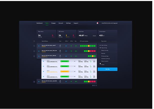 crypto mining dashboard